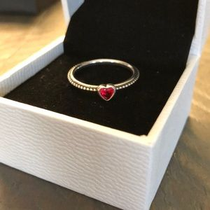 Pandora Heart ring, size 9